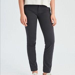 American Eagle // Dark Gray Skinny Twill Pants